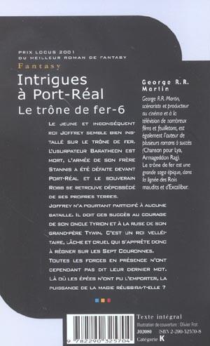 Le trône de fer T.6 ; intrigues à Port-Réal