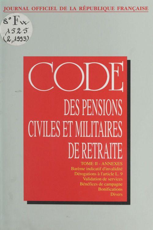 Code des pensions civiles et militaires de retraite (2)