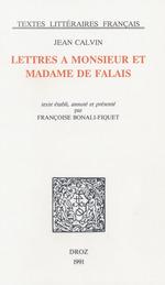 Vente EBooks : Lettres à Monsieur et Madame de Falai  - Jean Calvin - Françoise Bonali-Fiquet