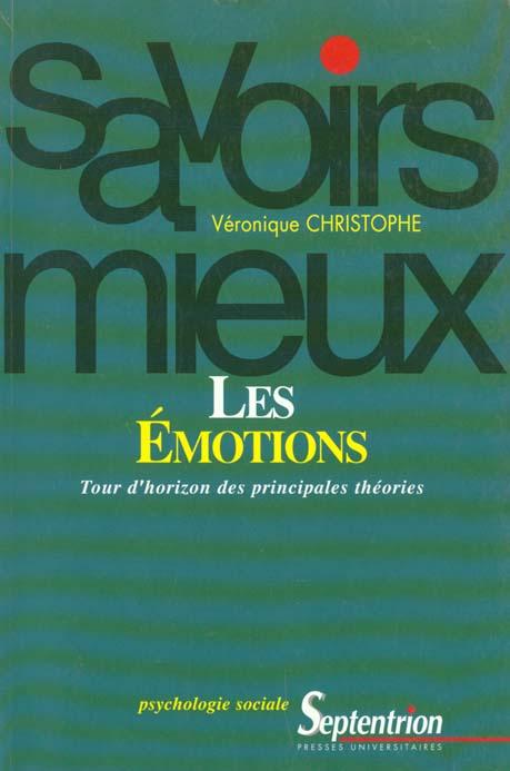 Les emotions tour d'horizon des principales theories - tour d'horizon des principales theories