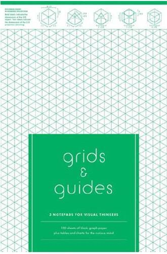 GRIDS & GUIDES - 3 NOTEPADS FOR VISUAL THINKERS ANGLAIS