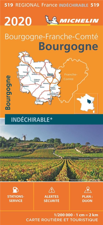 Bourgogne 2020 Collectif Michelin Michelin Carte Plan Le Hall Du Livre Nancy
