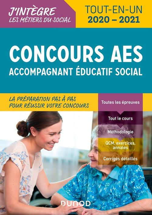 Concours AES ; accompagnant éducatif social ; tout-en-un (édition 2020/2021)