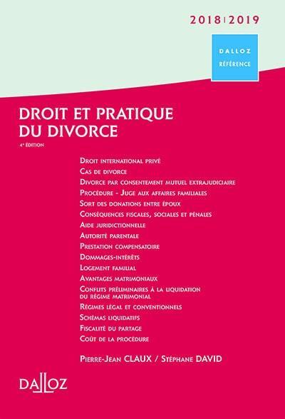 Droit et pratique du divorce (édition 2018/2019)