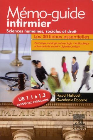 Sciences humaines, sociales et droit ; UE 1.1 à 1.3  ; mémo-guide infirmier