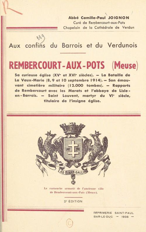 Rembercourt-aux-Pots (Meuse), aux confins du Barrois et du Verdunois