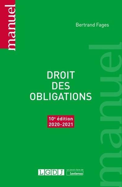 Droit des obligations (édition 2020/2021)