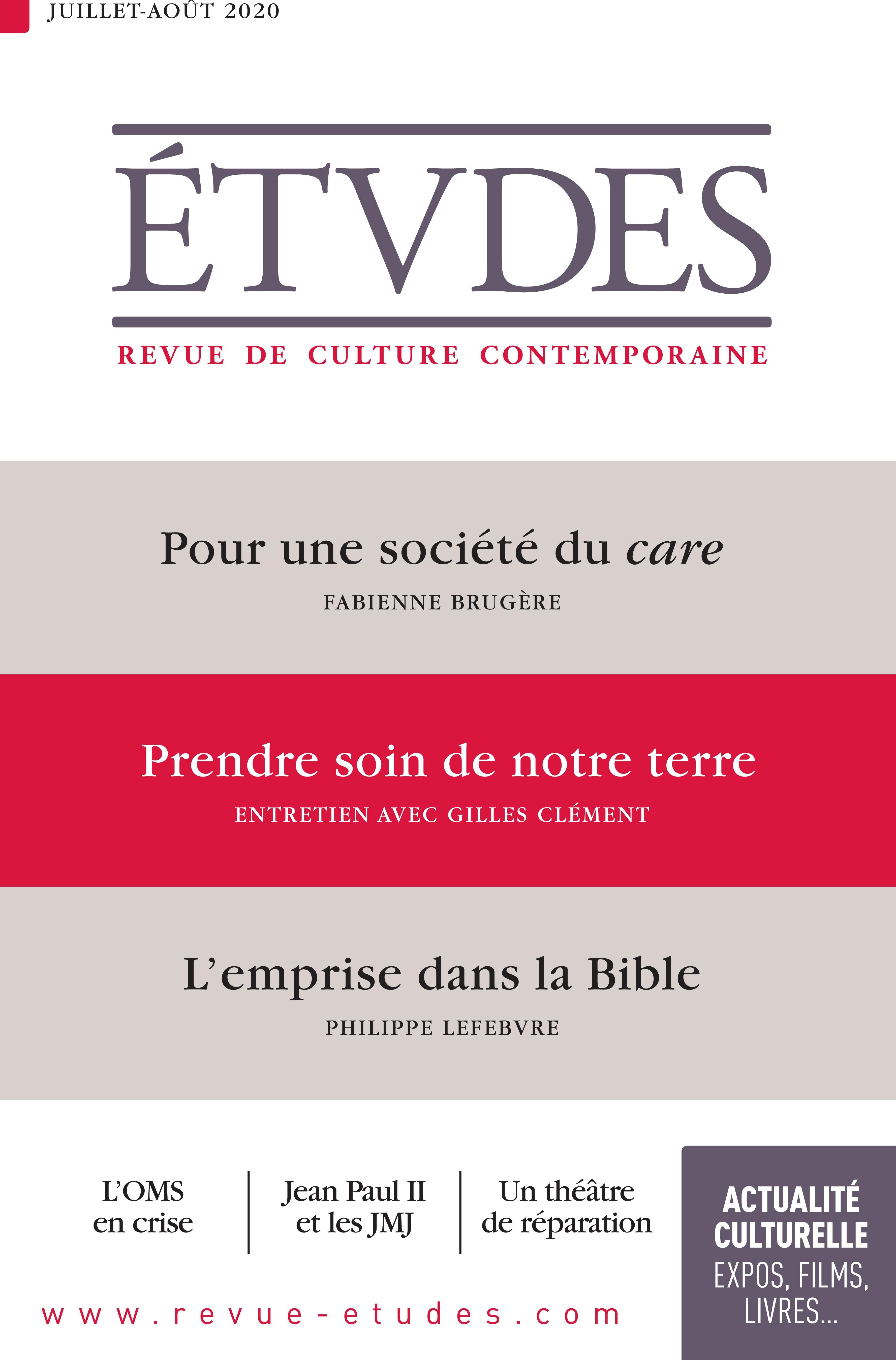 Revue études N.4273 ; juillet-août 2020