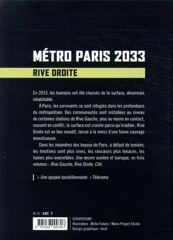 Métro Paris 2033 t.2 ; rive droite