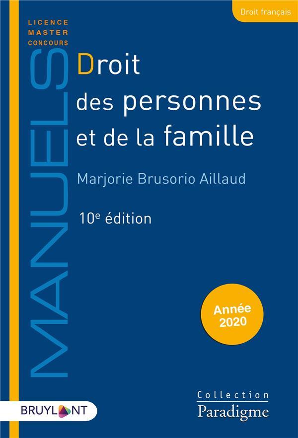 Droit des personnes et de la famille (édition 2020)