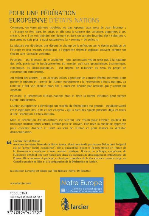 Pour une fédération européenne d'états-nations ; la vision de Jacques Delors revisitée