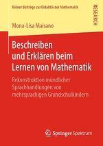 Beschreiben und Erklären beim Lernen von Mathematik