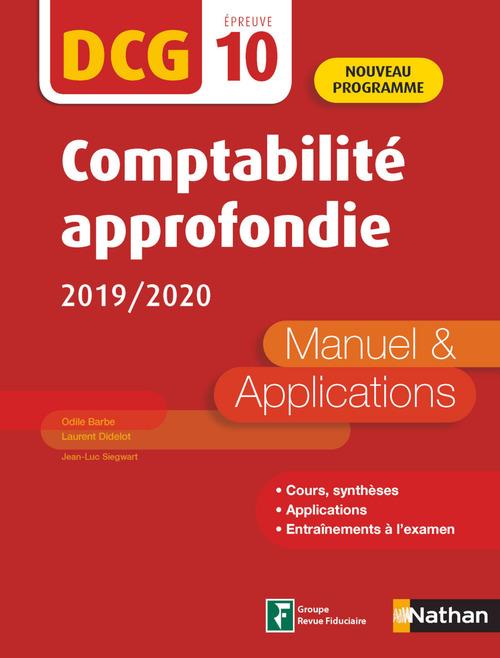 Comptabilité approfondie ; DCG ; épreuve 10 (édition 2019/2020)