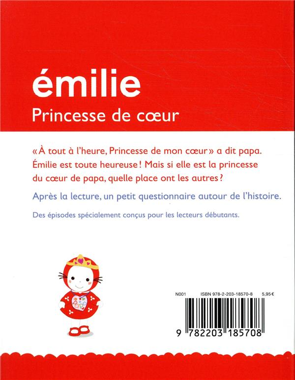 Je commence à lire avec Emilie ; princesse de coeur
