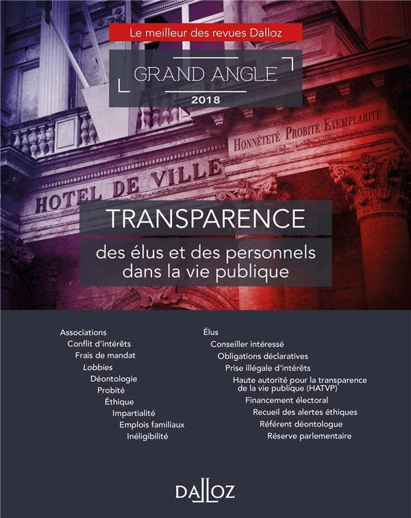 Transparence de la vie politique