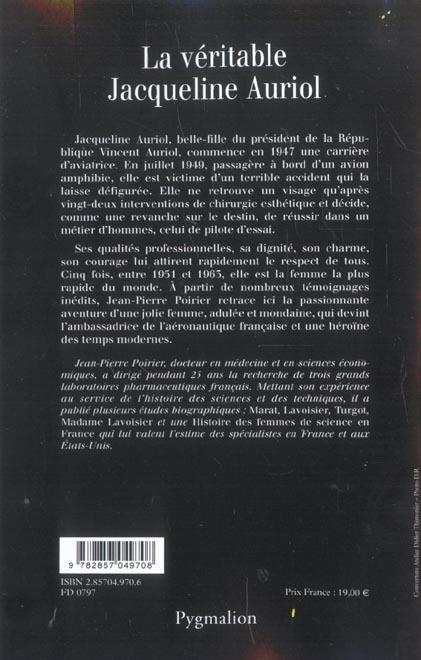 LA VERITABLE ; la véritable Jacqueline Auriol