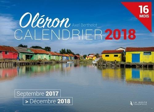 Calendrier ; Oléron ; septembre 2017 /décembre 2018 ; 16 mois