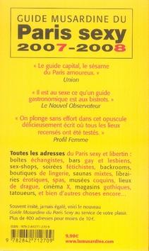 Guide musardine du paris sexy (édition 2007-2008)