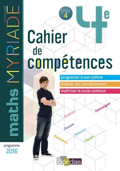 MYRIADE ; mathématiques ; 4e ; cahier d'activités (édition 2018)