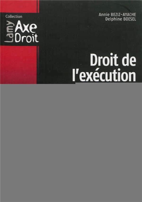 Droit De L Execution De La Sanction Penale 2e Edition Beziz Ayache Boesel Lamy Grand Format Le Hall Du Livre Nancy