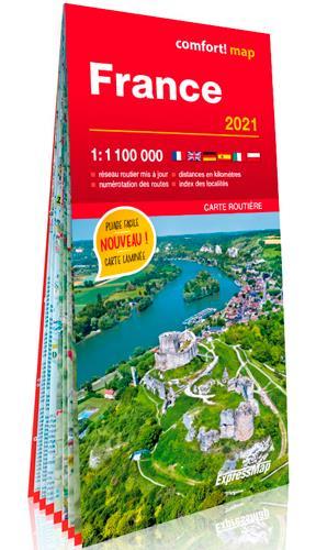 France ; 1/1m (carte grand format laminée) (édition 2021)