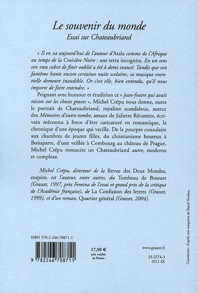 le souvenir du monde ; essai sur Chateaubriand