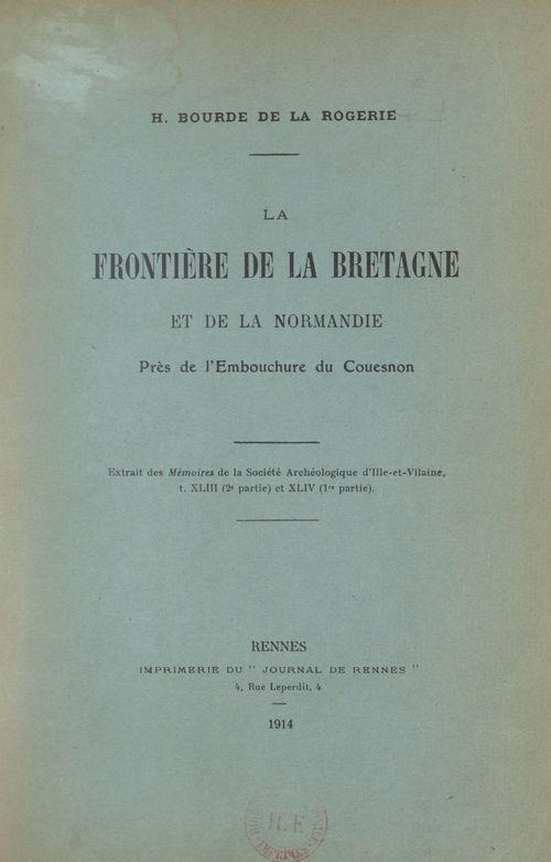 La frontière de la Bretagne et de la Normandie près de l'embouchure du Couesnon