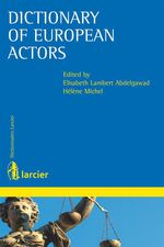 Vente Livre Numérique : Dictionary of European actors  - Hélène Michel - Elisabeth Lambert Abdelgawad