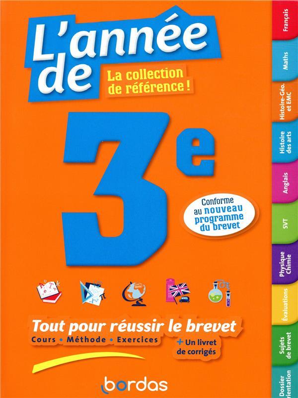 L'ANNEE DE ; 3e ; toutes les matières (édition 2019)