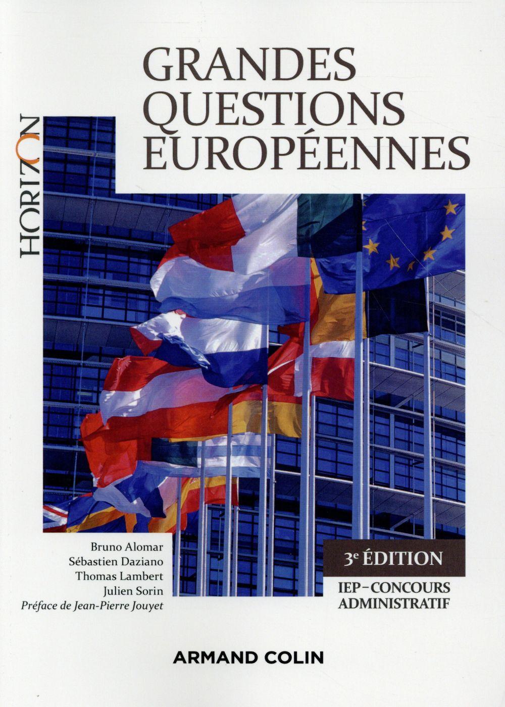Grandes questions européennes ; concours administratifs ; IEP (4e édition)
