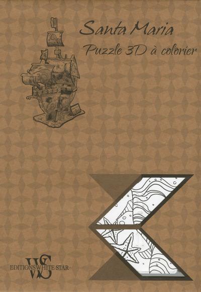 Santa Maria ; puzzle 3D à colorier