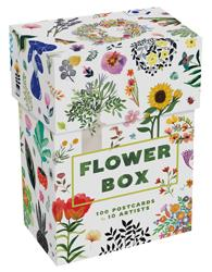 FLOWER BOX 100 POSTCARDS BY 10 ARTISTS ANGLAIS
