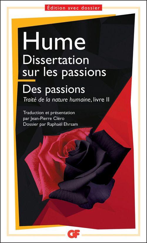 Dissertation sur les passions ; traité de la nature humaine t.2 ; des passions