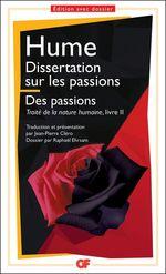 Vente Livre Numérique : Dissertation sur les passions. Des passions  - David HUME