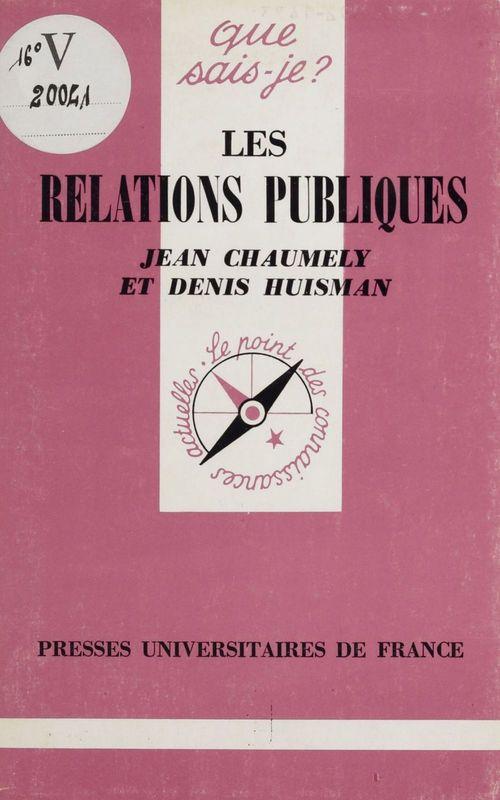 Relations publiques (les)