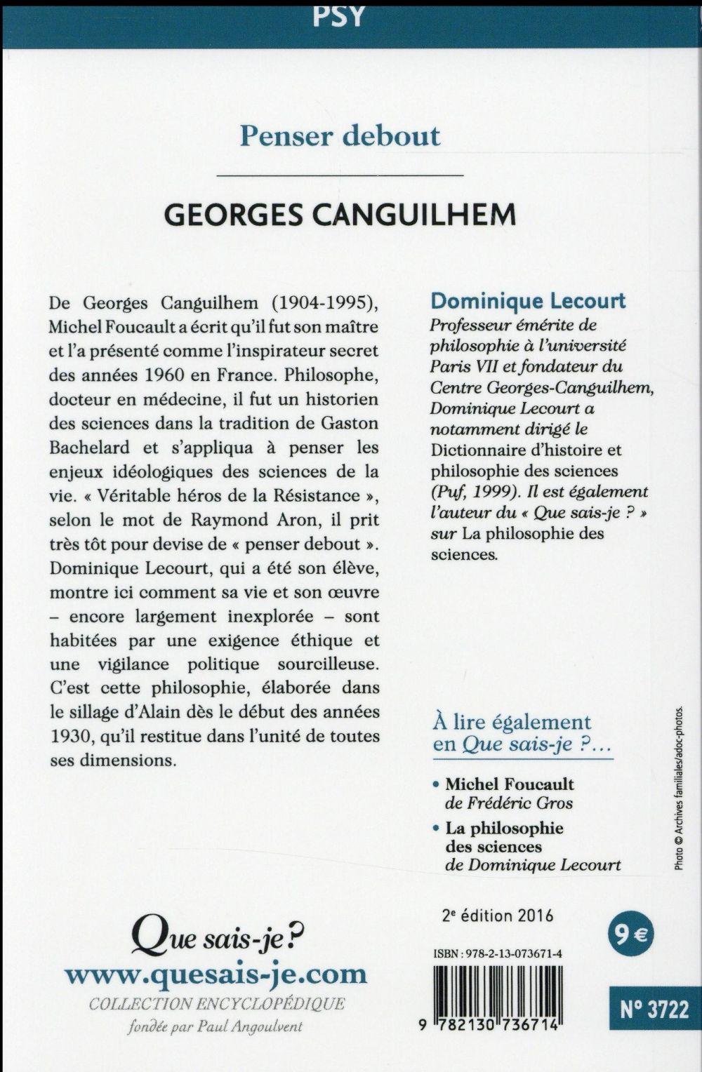 Georges Canguilhem (2e édition)