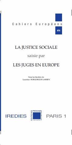 La justice sociale saisie par les juges en Europe