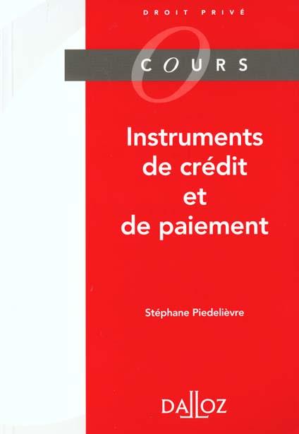 Instruments de credit et instruments de paiement