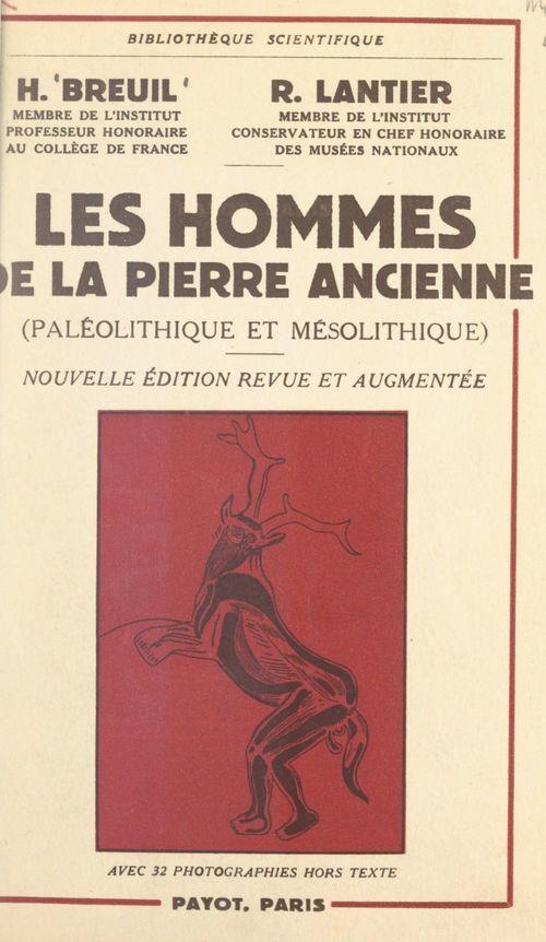 Les hommes de la pierre ancienne (Paléolithique et Mésolithique)