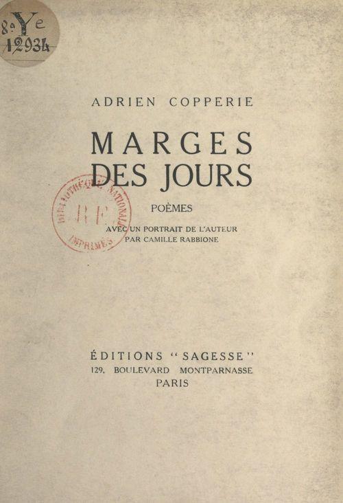 Marges des jours  - Adrien Copperie