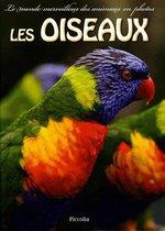 Couverture de Le monde merveilleux des animaux en photos ; les oiseaux