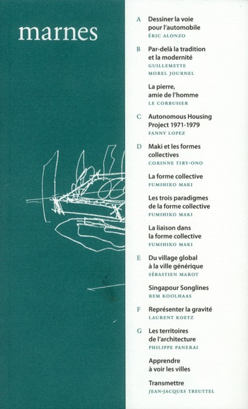 Marnes t.2; documents d'architecture