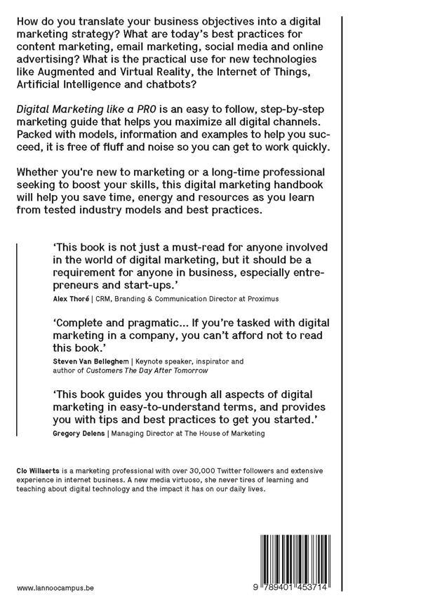 Digital marketing like a PRO ; Prepare. Run. Optimize