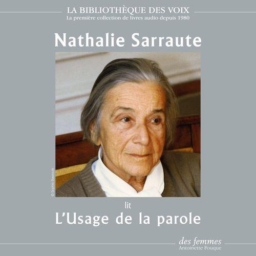 Vente AudioBook : L'Usage de la parole  - Nathalie Sarraute
