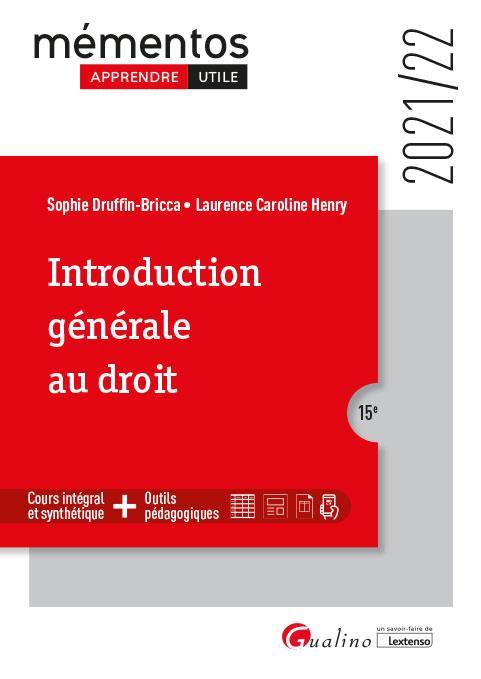 Introduction générale au droit (15e édition)