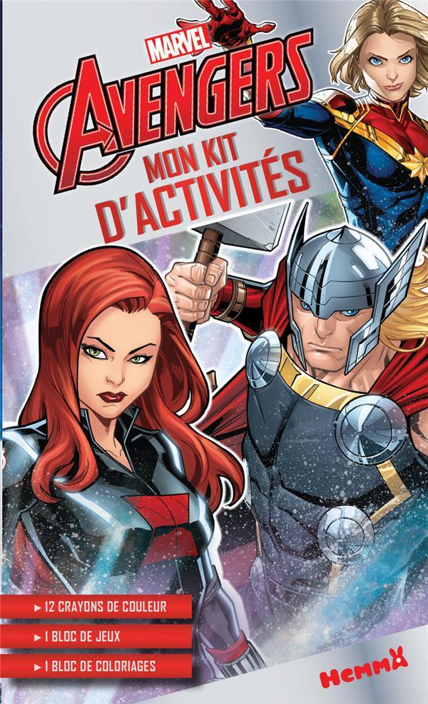 Mon kit d'activités ; Avengers ; Black Widow, Thor, Captain Marvel