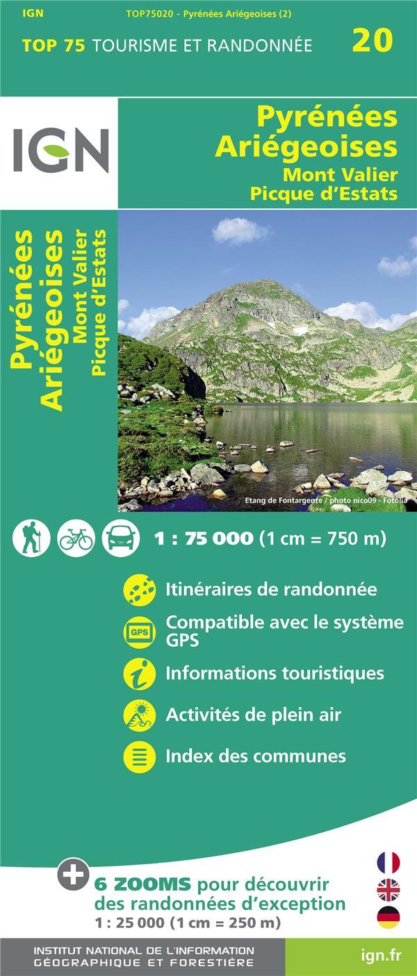 TOP75020 ; Pyrénées ariégeoises, Mont Valier, Pique d'Estats