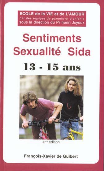 Sentiments sexualité sida ; 13/15 ans