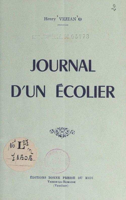 Journal d'un écolier