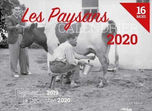 Calendrier 2020 ; les paysans
